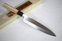 SAKAI TAKAYUKI Japanese knife Tokujou Yasuki white-2 steel Mioroshi Deba variety of sizes