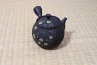 Tokoname Japanese tea pot kyusu Komatsu ceramic tea strainer round flower 280ml