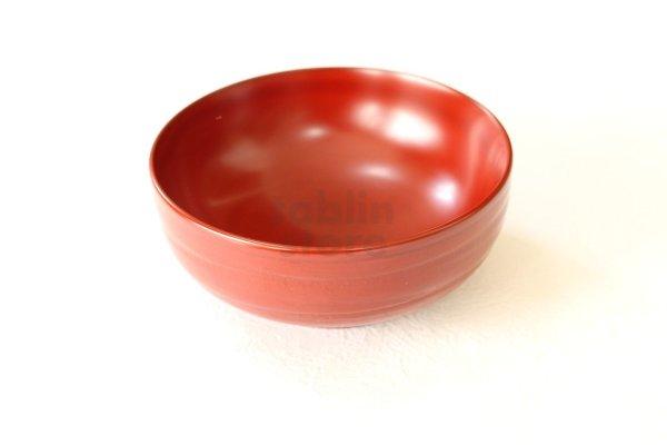 Photo2: Japanese Echizen Urushi lacquer matcha tea soup bowl hira jinoko shu red D130mm