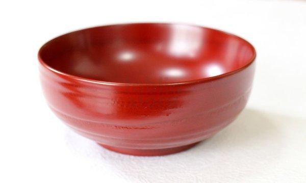 Photo1: Japanese Echizen Urushi lacquer matcha tea soup bowl hira jinoko shu red D130mm