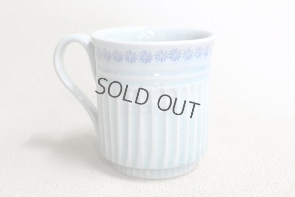 Photo1: Kiyomizu Japanese pottery mug coffee cup Minoru Ando seiji  light blue