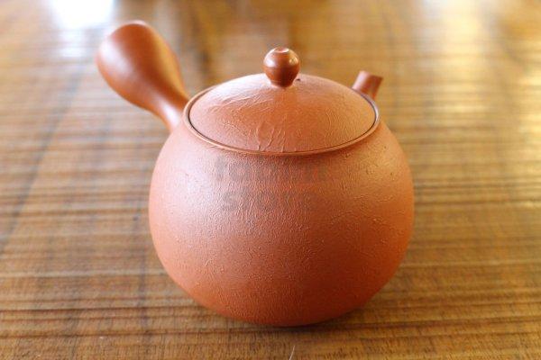 Photo1: Tokoname pottery YT Japanese tea pot kyusu shudei Komatsu red 220ml