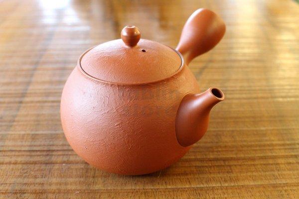 Photo2: Tokoname pottery YT Japanese tea pot kyusu shudei Komatsu red 220ml