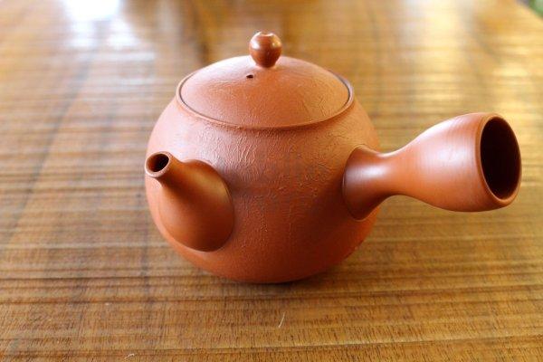 Photo3: Tokoname pottery YT Japanese tea pot kyusu shudei Komatsu red 220ml