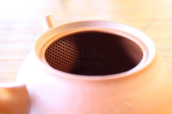 Photo5: Tokoname pottery YT Japanese tea pot kyusu shudei Komatsu red 220ml