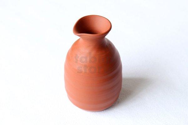 Photo2: Tokoname Japanese sake bottle and cup set YT Kenji red shudei 220ml