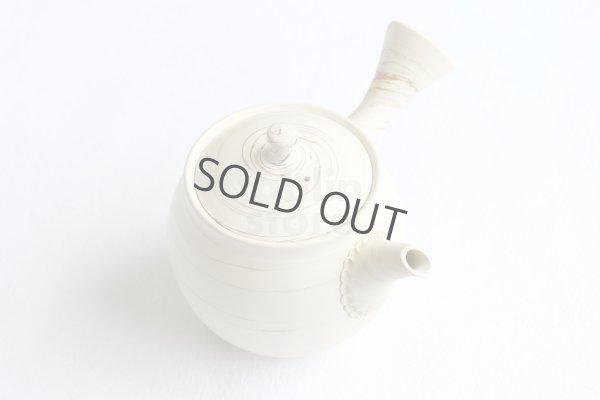 Photo1: Tokoname Japanese tea pot kyusu ceramic strainer Kenji shin nerikomi 360ml