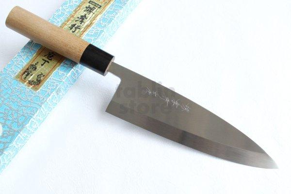 Photo1: Honyaki water quenching SAKAI TAKAYUKI Deba knife Yasuki White-2 steel