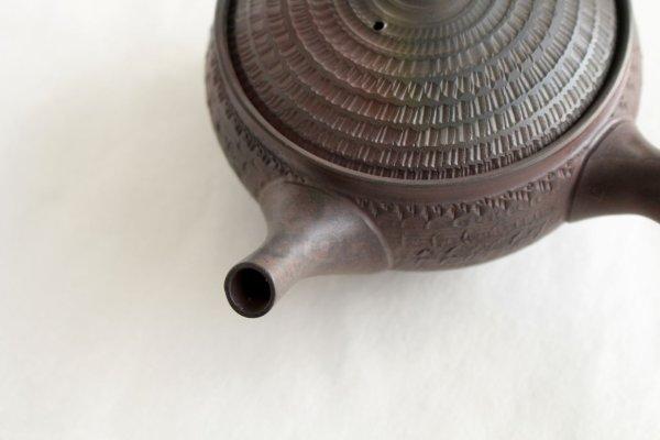 Photo2: Tokoname Japanese tea pot kyusu Gyokko pottery tea strainer youhen biri hi 250ml