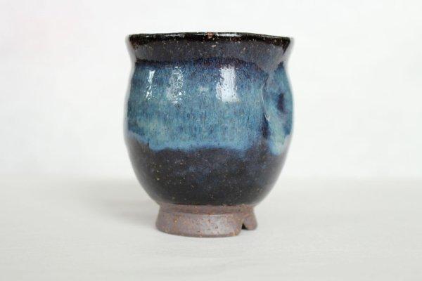 Photo2: Hagi ware kumi yunomi Japanese tea cups pottery ai maru Seigan Yamane set of 2