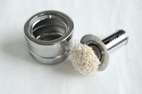 Japanese oil grease tool for frying pan antibacterial cotton with stainless handle & stand
