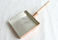Japanese copper rolled egg making pan  Nakamura square kanto with wooden handle any size