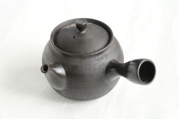 Photo2: Tokoname Japanese tea pot kyusu Komatsu ceramic tea strainear enmaru 310ml