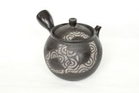 Tokoname Japanese tea pot kyusu Komatsu ceramic tea strainear enmaru 310ml