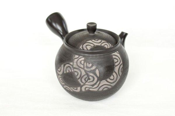 Photo1: Tokoname Japanese tea pot kyusu Komatsu ceramic tea strainear enmaru 310ml