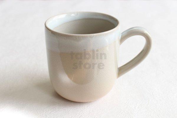 Photo1: Hagi yaki ware Japanese pottery mug coffee cup himedo 330ml