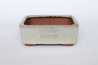 Tokoname Bonsai pot garden tree Japanese pottery oval Yozan Eimei shiro W110mm