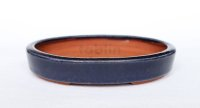 Tokoname Bonsai pot garden tree Japanese pottery oval Yozan Eimei navy W148mm