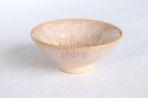 Photo1: Kiyomizu porcelain Japanese sake guinomi Junzo Okayama tsuchi shiro craze cup