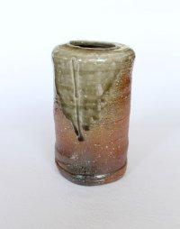 Shigaraki pottery MG Japanese wall-hanging vase ko tabimakura H13cm