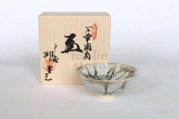 Photo1: Kiyomizu porcelain Japanese sake guinomi mange yuteki sakazuki