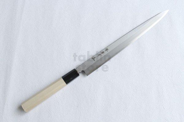 Photo1: SAKAI TAKAYUKI Chef Ginsan Japanese knife Silver-3 steel Fugu hiki Sashimi