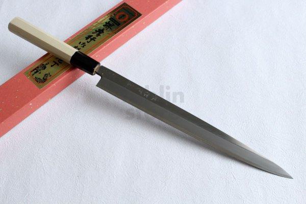 Photo2: SAKAI TAKAYUKI Chef Ginsan Japanese knife Silver-3 steel Fugu hiki Sashimi