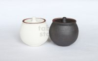Shigaraki pottery salt sugar storage container box 190ml