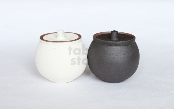 Photo1: Shigaraki pottery salt sugar storage container box 190ml