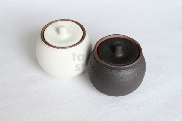 Photo2: Shigaraki pottery salt sugar storage container box 190ml