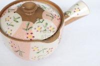 Kiyomizu Kyoto kumagai pottery tea pot kyusu flower yokote shiboridashi 420ml