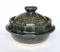 Shigaraki pottery deep donabe pot kamagata professional rice cooker