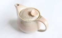 Hagi yaki ware Japanese tea pot Hana with stainless tea strainer 400ml