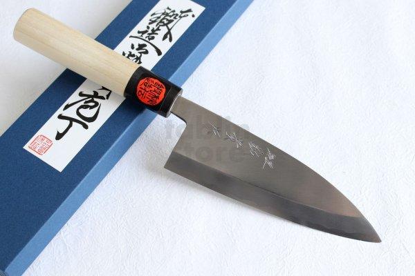 Photo1: Shigeki Tanaka Blue 2 steel Kasumi Deba knife any size