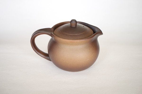 Photo1: Shikou tea pot Japanese Fujiso pottery banko Yakishime 280 ml