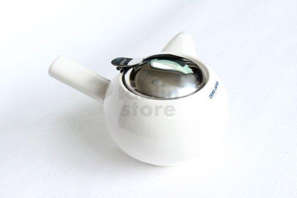 Photo1: Japanese ceramics Kyusu tea pot ZEROJAPAN white 400ml