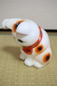 Photo9: Japanese Lucky Cat Tokoname YT Porcelain Maneki Neko bowing Right hand H25cm