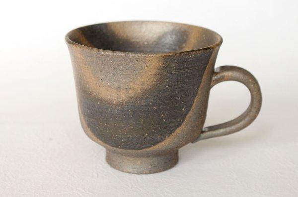 Photo1: Shigaraki ware Japanese pottery tea mug coffee cup ibushi haiyu 280ml