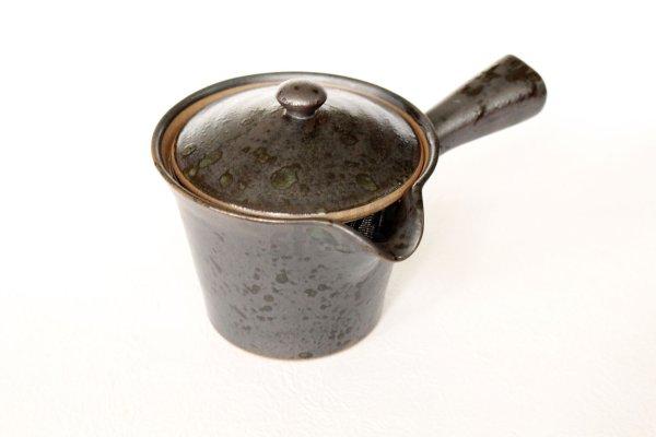 Photo1: Arita imari sd Porcelain Japanese tea pot kyusu kokuyu raku 280ml