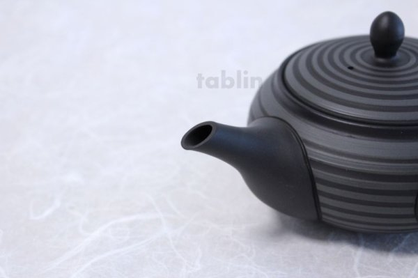 Photo4: Tokoname yaki ware Japanese tea pot Horyu ceramic tea strainer 280ml