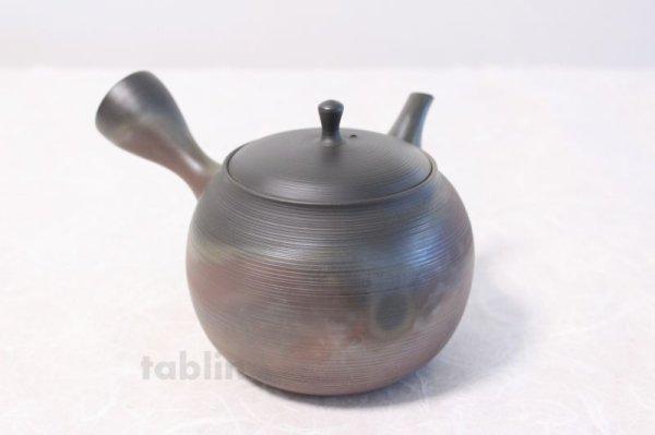 Photo3: Tokoname yaki ware Japanese tea pot Gyokko ceramic tea strainer hogama 480ml