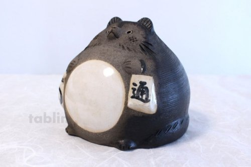 Other Images2: Shigaraki pottery Japanese figurineTanuki Raccoon Dog Ofuku H17cm