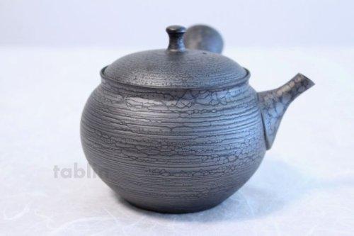 Other Images3: Tokoname ware Japanese tea pot kyusu ceramic strainer YT Shoryu tenmoku 390ml