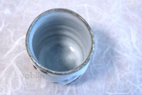 Other Images3: Hagi ware Senryuzan climbing kiln Japanese tea cups madara white glaze set of 2