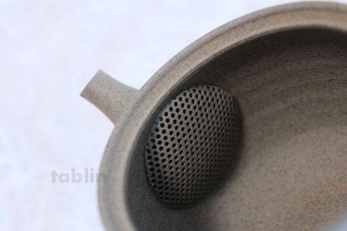 Other Images1: Tokoname ware Japanese tea pot Gyokko ceramic tea strainer yakishime ko ma 250ml