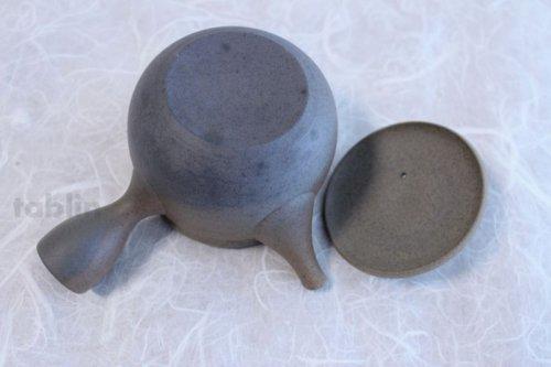 Other Images2: Tokoname ware Japanese tea pot Gyokko ceramic tea strainer yakishime ko ma 250ml