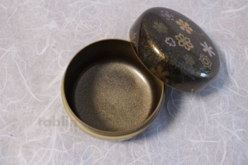 Other Images1: Tea Caddy Japanese hira Natsume Echizen Urushi lacquer Matcha container snow