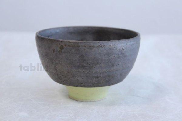 Photo1: Kiyomizu porcelain Japanese matcha tea bowl yellow wan Daisuke Tokinoha