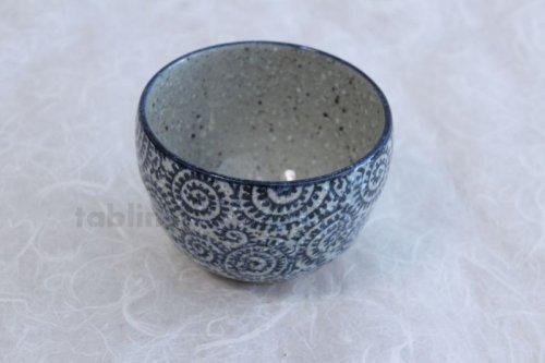 Other Images1: Mino ware Japanese pottery matcha chawan tea bowl toga tako karakusa noten
