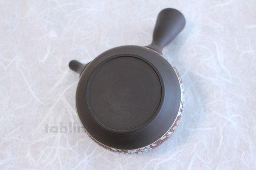 Other Images2: Tokoname Kutani collaborate Japanese tea pot ceramic tea strainer sakura 270ml